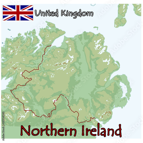 Northern Ireland Europe Map Flag Emblem Buy This Stock Vector And