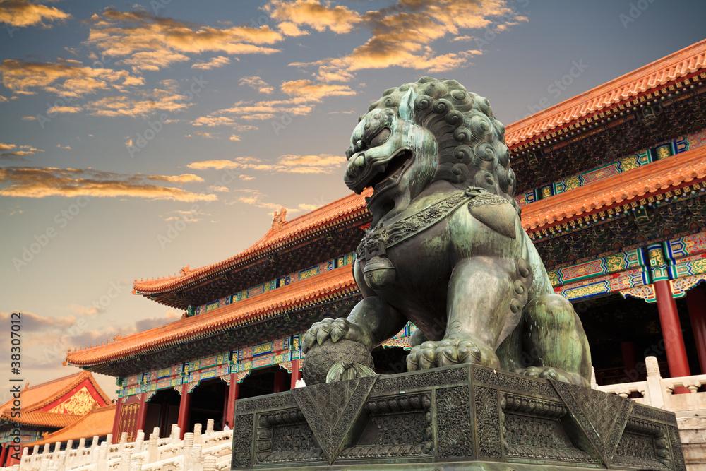 Fototapeta the forbidden city in beijing