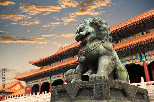 Deurstickers Peking the forbidden city in beijing