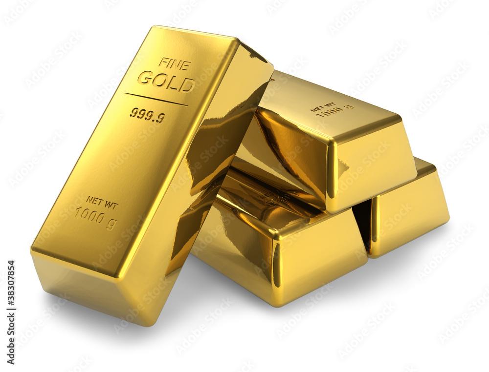 Fototapeta Gold bars
