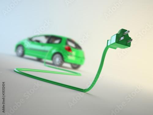 Plakaty samochody nowoczesne   koncepcja-pojazdu-elektrycznego