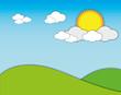 Nice day sunshine blue sky