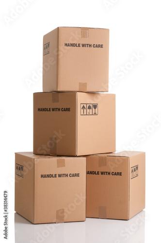 Photographie  Pile de boîtes