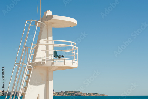 Fotografia, Obraz Lifeguard watchtower