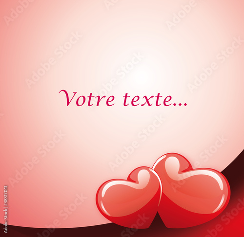 Carte Message Damour Saint Valentin Buy This Stock Vector