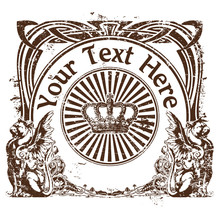 Stamp In Style A Vintage With A Place For The Text 2