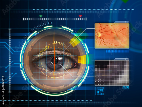 Fotografía  Eye scanner