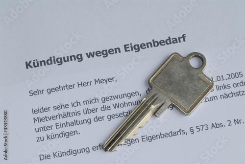 Kuendigung Wegen Eigenbedarf Wohnung Miete Schlüssel Kaufen Sie