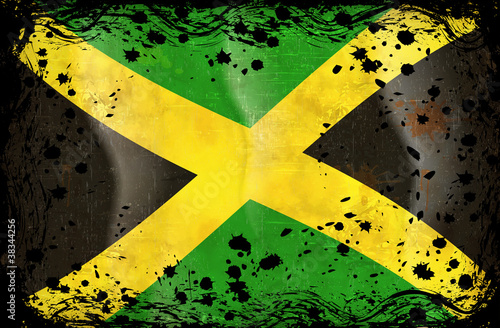 flag of Jamaica Fototapeta