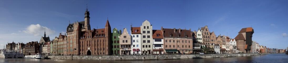 Panel Szklany Podświetlane Gdańsk Gdańsk- panorama na stare miasto.