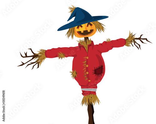 Fotografie, Obraz halloween scarecrow