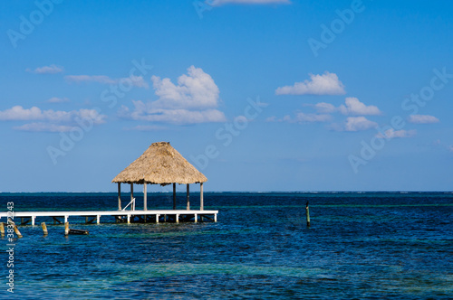 Papiers peints Bestsellers Palapa Hut and Dock on the Ocean