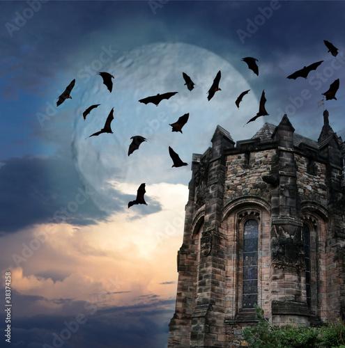 In de dag Volle maan Mystery gothic castle Edinburgh
