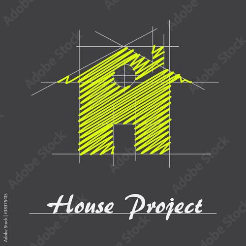 Obraz na plátne Logo house project # Vector