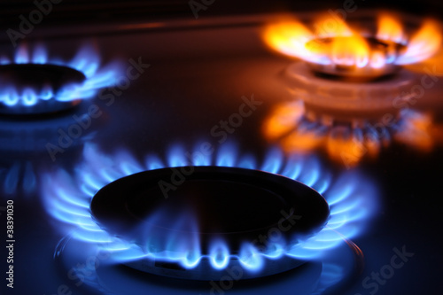 Fotografie, Obraz  Gas flames