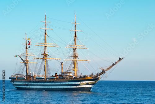 Türaufkleber Schiff Sailing vessel
