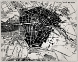 Historical map of Berlin, Germany. - 38396095