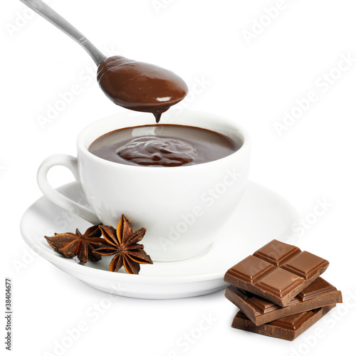 Canvas Prints Chocolate cup of hot chocolate