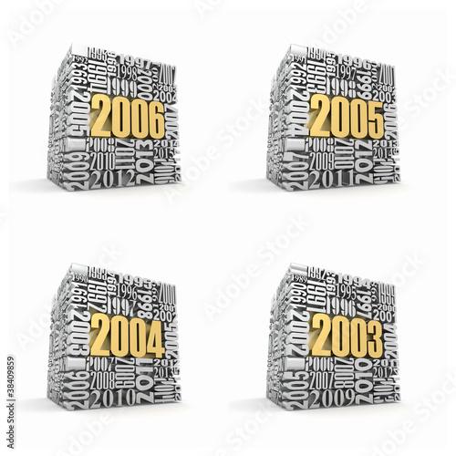 Fotografia  New year 2006, 2005, 2004, 2003.