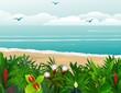 flower beach background