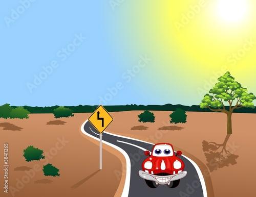 Cadres-photo bureau Voitures enfants car in the road