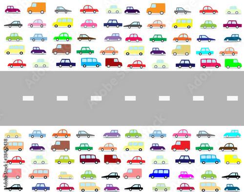 Staande foto Cartoon cars cartoon cars