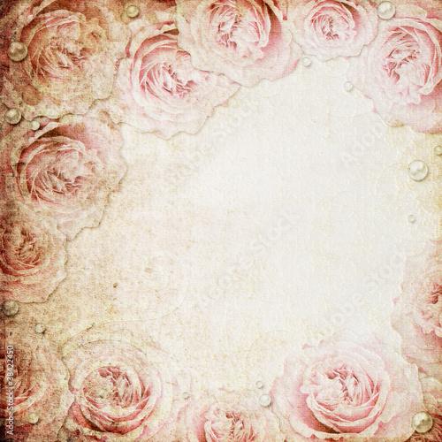 Keuken foto achterwand Retro Grunge beige and pink wedding background