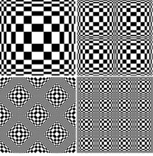 Abstract Black And White Pattern Set