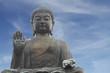 Tian Tan Buddha in Hong Kong (with copy space)