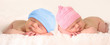 Leinwanddruck Bild - Newborn baby twins