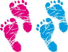 Babyfüße - Fußabdrücke