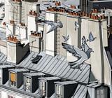 dachy w Paryżu - 38461043