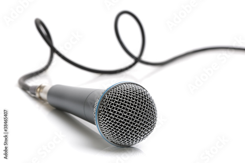 Plakat na zamówienie Microphone and cable