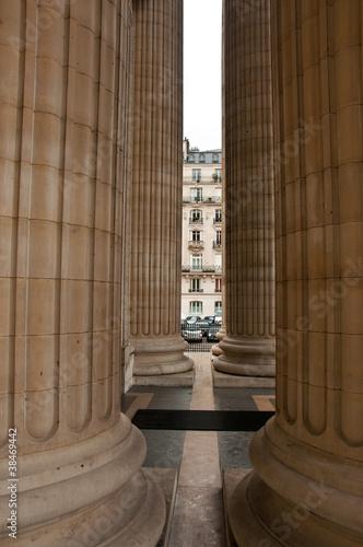 Leinwand Poster colonnes du Panthéon à Paris