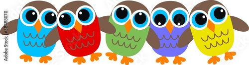 Canvas Prints Owls cartoon owl header