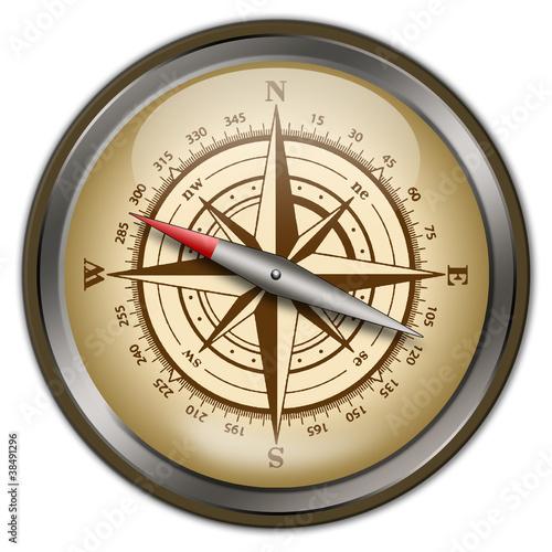 Fototapety, obrazy: Alter Kompass