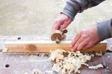 Carpenter Marking Out Wood