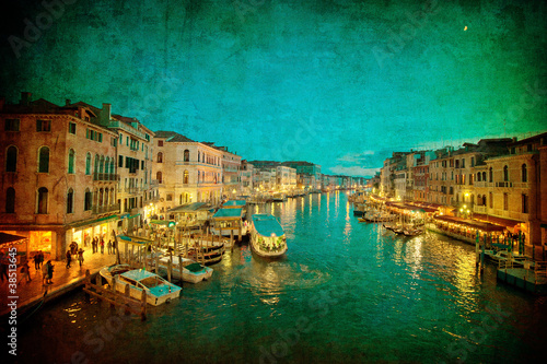 Garden Poster Napels Vintage image of Grand Canal, Venice