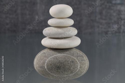 Doppelrollo mit Motiv - Stilleben mit Steinen (von Bernd S.)