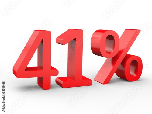 Fotografia  3d Schrift 41% rot