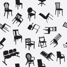 Big Set Of Home Chair Silhouet...