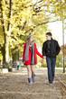 couple in love walking