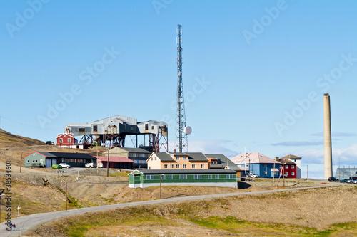 Foto op Plexiglas Historisch geb. Longyearbyen