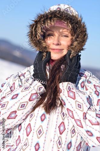 Deurstickers Droogte hiver femme