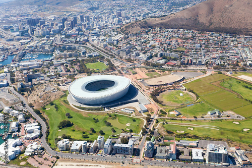 aerial view downtown of Cape Town, South Africa