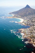 canvas print picture overhead view of coast of Cape Town, South Africa