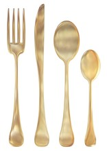 Golden Cutlery Set