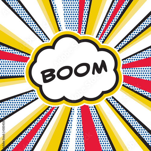 Canvas Print Boom Pop Art