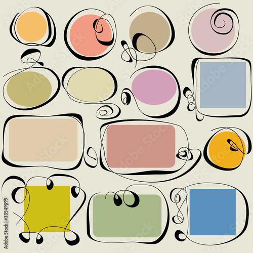 Fotografie, Obraz  Calligraphic frames set