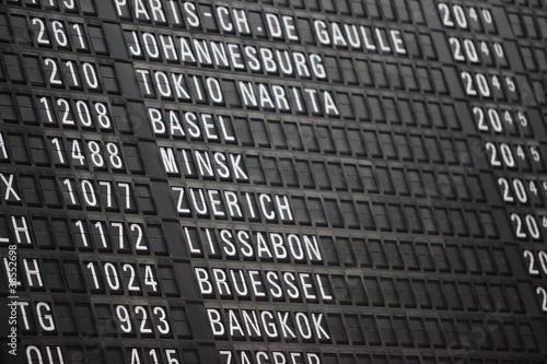 Poster Aeroport Fliegen